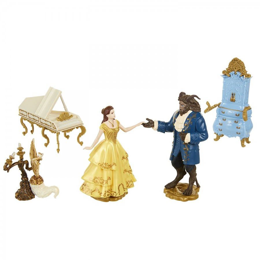 boxed set 5 figures 10cm beauty and the beast movie disney