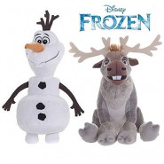FROZEN Couple 2 Plushies  OLAF and SVEN 20cm 8'' ORIGINAL Official DISNEY