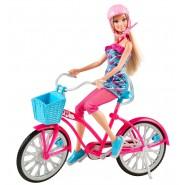 Bambola BARBIE con BICICLETTA GLAM Mattel Y7055