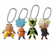DRAGONBALL Set Completo 4 Mini FIGURE Collezione UDM V Jump Selection 01 DANGLER Bandai Gashapon Dragon Ball