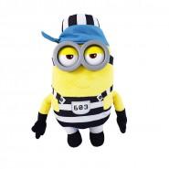 MINION PRISONER Number 603 Plush 30cm Plastic Eyes JAIL from DESPICABLE ME 3 Original MINIONS