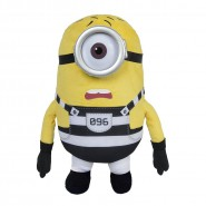MINION PRISONER Number 096 Plush 30cm Plastic Eyes JAIL from DESPICABLE ME 3 Original MINIONS