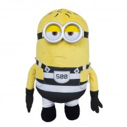 MINION PRISONER Number 500 Plush 30cm Plastic Eyes JAIL from DESPICABLE ME 3 Original MINIONS