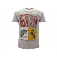 TRONO DI SPADE T-Shirt Maglietta STEMMI 4 FAMIGLIE Casate UFFICIALE Licenza HBO