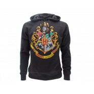 HARRY POTTER Hooded Sweatshirt HOGWARTS Crest 4 HOUSES Warner Bros Official Sweater