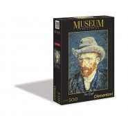 PUZZLE 500 Pezzi AUTORITRATTO Cappello Feltro VAN GOGH MUSEUM COLLECTION Clementoni 30317