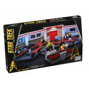 STAR TREK Big Building Playset ENTERPRISE BRIDGE with 4 Figures MEGA BLOKS 594 pieces