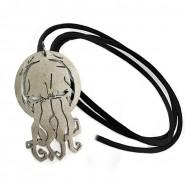 Ciondolo Metallo CTHULHU Lovecraft Con Collana Laccio Cuio
