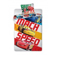 COPRIPIUMINO Set Letto CARS MACH SPEED Saetta McQueen DISNEY ORIGINALE
