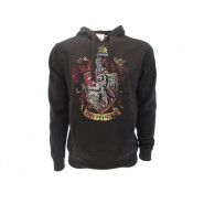 HARRY POTTER Hooded Sweatshirt GRYFFINDOR House CREST Warner Bros Official Sweater