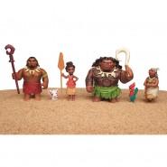 OCEANIA Boxed Set 6 Characters 8cm Maui Pua HeiHei ORIGINAL HASBRO Vaiana Moana