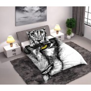 BED SET Cotton Duvet Cover LION Animal and Nature 160x200cm