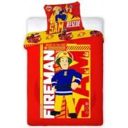 Set Letto Cotone SAM IL POMPIERE Fireman Sam COPRIPIUMINO 160x200cm e FEDERA Originale