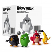 ANGRY BIRDS Boxed SET 4 Figure Characters RED CHUCK BOMB PIG Original ROVIO Spin Master