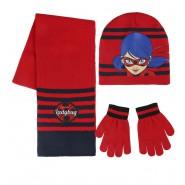 MIRACULOUS LADYBUG Winter Set 3 PIECES - SCARF Beanie HAT GLOVES Original