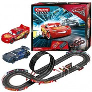 Electric SLOT CAR Racing CARS 3 FINISH FIRST Disney LIGHTNING McQueen Versus JACKSON STORM 4,90 Meter CARRERA GO !