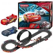 Electric SLOT CAR Racing CARS 3 FINISH FIRST Disney LIGHTNING McQueen Versus JACKSON STORM 4,90 Meter CARRERA GO !
