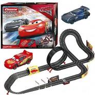 Electric SLOT CAR Racing CARS 3 FAST NOT LAST Disney LIGHTNING McQueen Versus JACKSON STORM 6,20 Meter CARRERA GO !