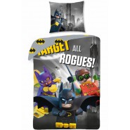 LEGO BATMAN Target All Rogues SET LETTO Copripiumino e Federa 140x200cm COTONE Reversibile ORIGINALE