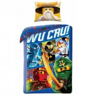 LEGO NINJAGO Wu Cru BED SET Cotton DUVET COVER 140x200cm ORIGINAL