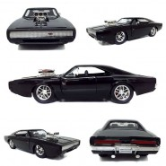 FAST & FURIOUS Model Dom's 1970 DODGE CHARGER R/T GLOSSY BLACK Version Scale 1:24 Original JADA Collector Serie