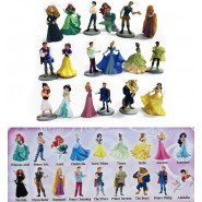 SERIE COMPLETA 18 Diverse Mini Figure 4cm PRINCIPESSE e PRINCIPI Disney ORIGINALI Bully Bullyland
