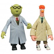 The MUPPETS Figura Diorama BEAKER e BUNSEN Originale Diamond SELECT