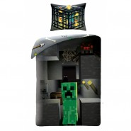 MINECRAFT Single Bed Set CREEPER Cactus DUVET COVER 140x200cm Cotton ORIGINAL Official