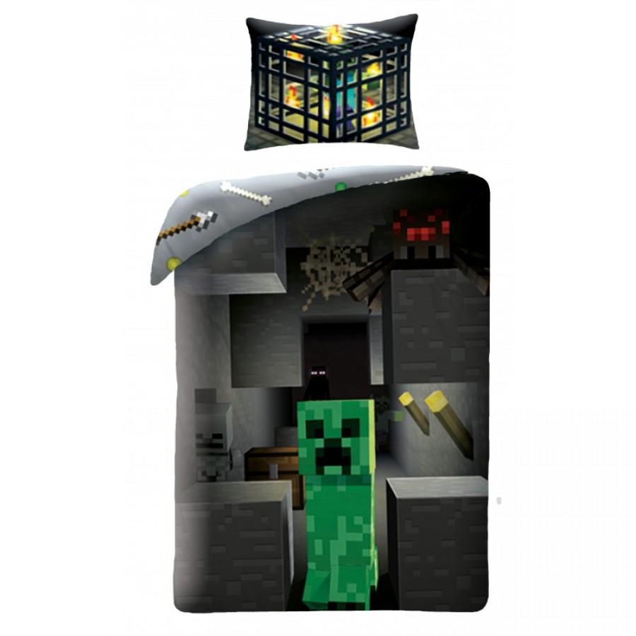 Minecraft Single Bed Set Creeper Cactus Duvet Cover