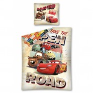 COPRIPIUMINO Set Letto CARS Take The OPEN ROAD Saetta Cricchetto Luigi DISNEY ORIGINALE