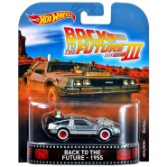 BACK TO THE FUTURE 3 Model Car 1955 DE LOREAN Time Machine 1:64 Hot Wheels MATTEL DWJ77