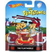 THE FLINSTONES Modellino Auto FLINTMOBILE Scala 1:64 Hot Wheels DieCast FRW03