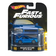 FAST FURIOUS Model Car NISSAN SKYLINE GT-R R34 1:64 Hot Wheels MATTEL DWJ88