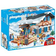 Playset RIFUGIO degli SCIATORI Baita Montagna Playmobil 9280 Family Fun