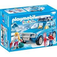 Playset AUTO SUV SCIATORE Neve Playmobil 9281 Family Fun