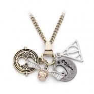 HARRY POTTER Metal Necklace with 4 PENDANT 4 Symbols ORIGINAL Warner Bros