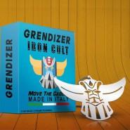 Ciondolo Metallo TESTA di GOLDRAKE UFO ROBOT 7cm IRON CULT Acciaio Ufficiale Originale GO NAGAI