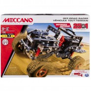 MECCANO Building Kit 25 Different OFF ROAD RACERS Motorizes Models 17204