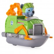 ROCKY with Racer BOAT Serie RACERS Vehicle 10cm With Figure PAW PATROL Original Spin Master