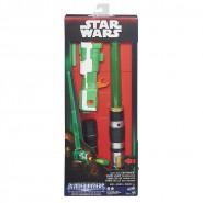 STAR WARS Spada Laser CON PISTOLA NERF Tech Blast FIRING Hasbro BLADEBUILDERS