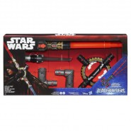STAR WARS Lightsaber ROTATING SPIN ACTION Electronic BUILDABLE Hasbro BLADEBUILDERS