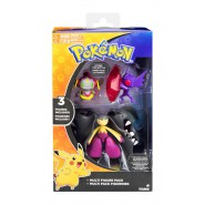 POKEMON Box 3 FIGURE Mega Mawile + Mega Sableye + Hoopa Originali TOMY T19148
