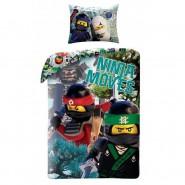 LEGO NINJAGO Ninja Moves SET LETTO Copripiumino e Federa 140x200cm COTONE Reversibile ORIGINALE