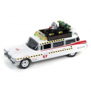 GHOSTBUSTERS Modellino 8cm Auto ECTO-1A Scala 1:64 Originale Johnny Lightnining