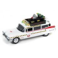 GHOSTBUSTERS Modellino 8cm Auto ECTO-1A Scala 1:64 Originale Johnny Lightnining
