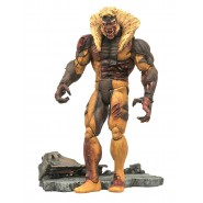 ZOMBIE SABERTOOTH Figura 18cm Diorama Marvel Originale Diamond SELECT