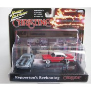 DIORAMA with 2 Model Cars 7cm CHRISTINE Stephen King Scale 1/64 Original  Johnny Lightnining