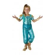 COSTUME Carnevale SHINE Genietta da SHIMMER E SHINE Taglia SMALL Bambina Originale RUBIE'S
