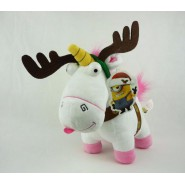 Plush 25cm FLUFFY UNICORN Dressed as REINDEER Christmas ORIGINAL Despicable Me Minions