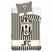 Set Letto Ufficiale JUVENTUS Juve JFC Stemma Copripiumino Federa COTONE Originale